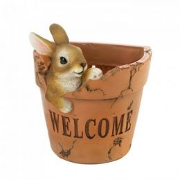 Welcoming Bunny Planter