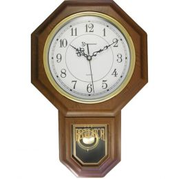 Timekeeper 180WAGM Essex 18.75 Modern Pendulum Wall Clock (Faux Wood)