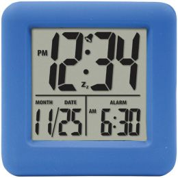 Equity By La Crosse Soft Cube Lcd Alarm Clock (blue) LCR70905