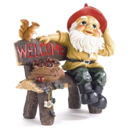 Garden Gnome Greeting Sign 10039265