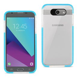 REIKO SAMSUNG GALAXY J7 V (2017) SOFT TRANSPARENT TPU CASE IN CLEAR BLUE