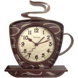 Westclox 32038 Coffee Time 3-Dimensional Wall Clock