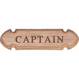 Whitecap Teak CAPTAIN Name Plate