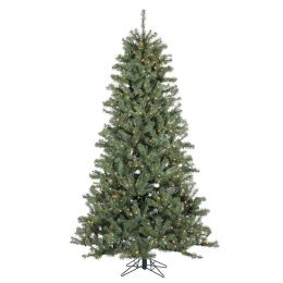 7.5 Foot Pre-Lit Christmas Tree Realistic Spruce with 500 Clear White Lights
