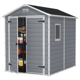 Outdoor 6-ft x 8-ft Storage Shed in Steel Reinforced Polypropylene