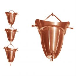 Pure Copper 8.5-Ft Bell Cone Shape Rain Chain