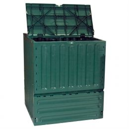 Outdoor Garden Green Recycled Plastic 160-Gallon Compost Bin