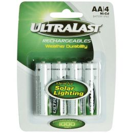 Ultralast Uln4aasl Aa Rechargeable Nicd Batteries For Solar Lights 4 Pk