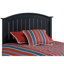 Twin size Solid Wood Arch Panel Headboard in Black