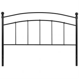 Twin size Contemporary Classic Black Metal Headboard