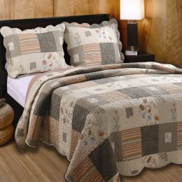 Twin size 100% Cotton Oversized Quilt Set with Sham Southwest Style