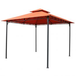 Terracotta 10-ft x 10-Ft All Weather Canopy with Outdoor Black Metal Frame