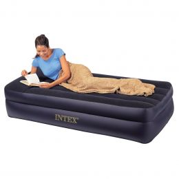 Twin Pillow Rest Raised Air Mattress with Built-in Air Bed Pump