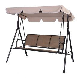 Outdoor 3-Person Canopy Swing for Porch Patio or Deck