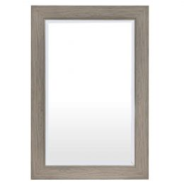 Rectangle 35 x 23 inch Bathroom Wall Mirror with Wood Frame